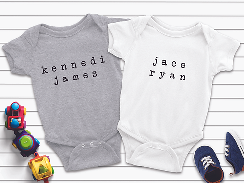 Personalized Typed Onesie
