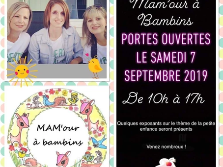 """Porte ouverte des      """"MAM'our à bambins"""" Saint Aubin la Plaine 🌼"""