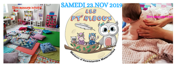 """Atelier Massage Parents-bébés """"special Petit Bidon"""" à la MAM Les Pthiboux"""