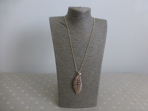 Rose Gold Feather Long Necklace