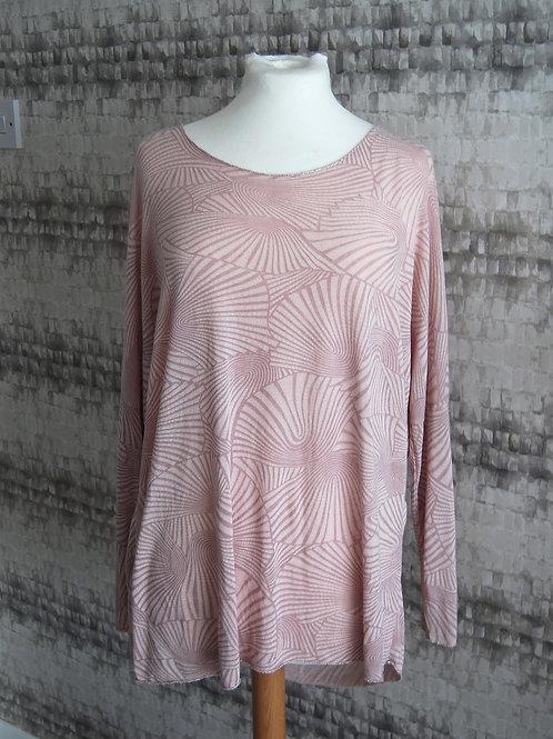 Light Pink Patterned Jumper