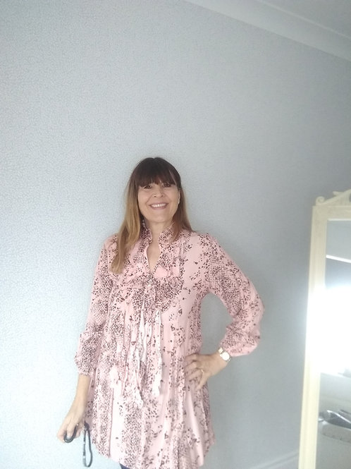 Frill front tunic