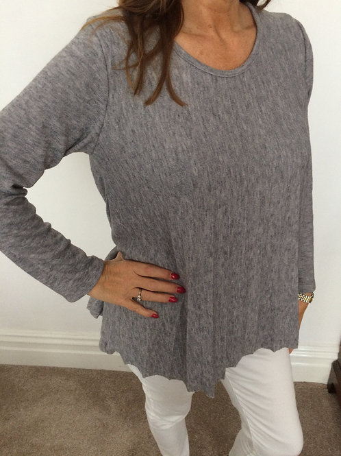 Super soft knit pleated jumper