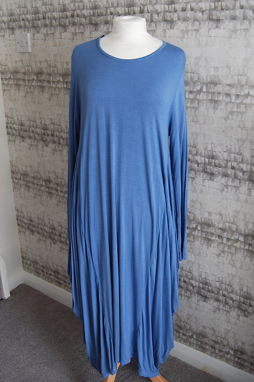 Blue Trapeze Long Sleeve Tunic