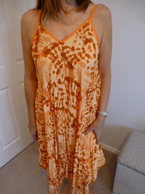 Orange Tie-Dye Dress