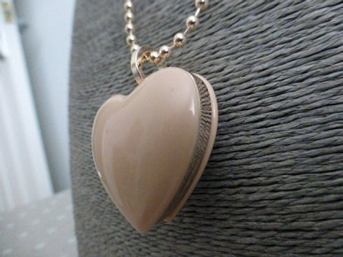 Pink Rose Gold Long Necklace
