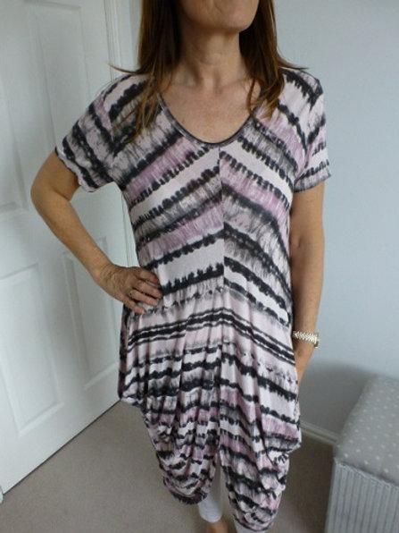 Pink Tie-Dye Dress
