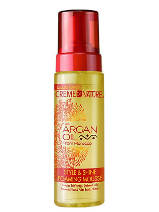 Creme of Nature Argan Oil Style & Shine Foaming Mousse 7oz
