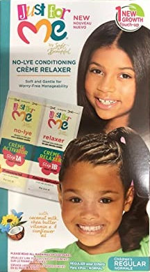 Just For Me No-Lye Creme Relaxer New Growth Touch-Up Kit Regular