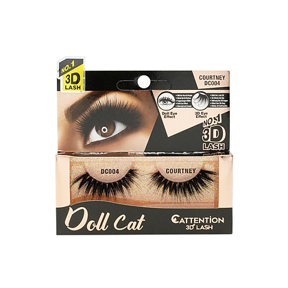Ebin 3D Effect Eye Lashes Doll Cat