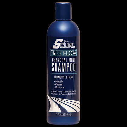 Luster's Pink S-Curl Free Flow Charcoal Mint Shampoo 12oz