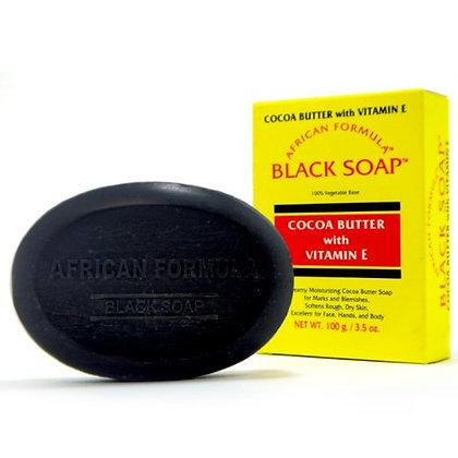 African Formula Black Soap w/ Cocoa Butter w/ Vitamin E 3.5oz