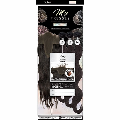 Outre MyTresses Black Label Body Wave Bundle with 13x4 Closure Human Hair Weave