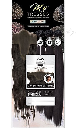 Outre MyTresses Black Label Straight Bundle with 13x4 Closure Human Hair Weave