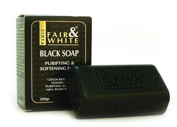 Fair & White Black Soap Purifying & Softening 7oz