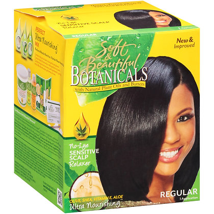 Soft & Beautiful Botanicals No-Lye Sensitive Scalp Relaxer Regular