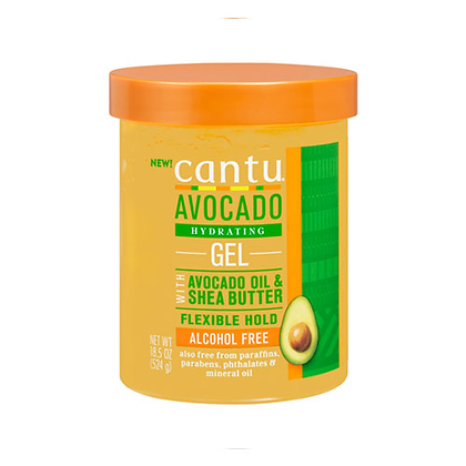Cantu Shea Butter Avocado Hydrating Styling Gel w\ Flaxseed & Olive Oil 18.25oz