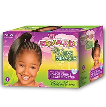 African Pride Dream Kids Olive No-Lye Relaxer Kit Super