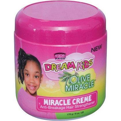 African Pride Dream Kids Olive Miracle Cream Anti-Breakage Hair Strengthener 6oz