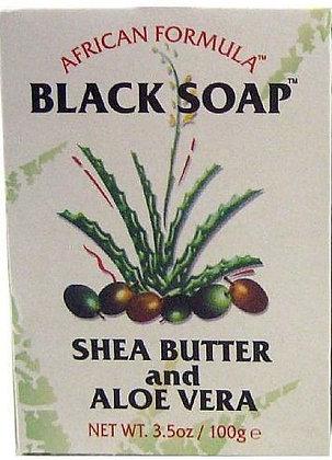 African Formula Black Soap w/ Shea Butter and Aloe 3.5oz