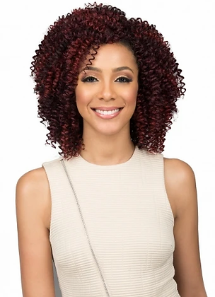 Bobbi Boss Miss Origin 3PC Short Jerry Curl Human Hair Blend Weave