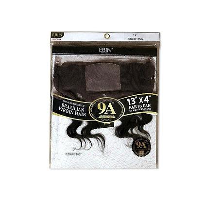 Ebin 9A Ear to Ear Silk Human Hair 13x4 Closure