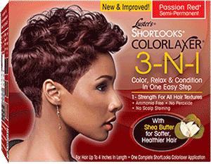 Luster's Pink Shortlooks Colorlaxer 3-N-1 Color, Relaxer & Condition Kit Red