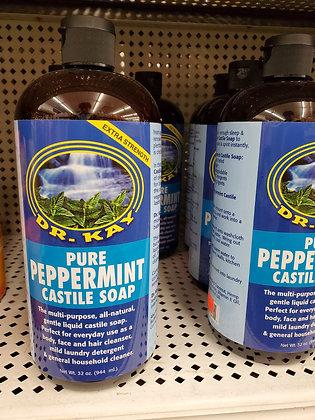 Dr. Kay Pure Peppermint Castile Soap 32oz