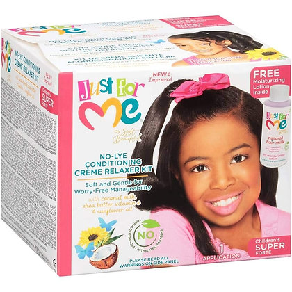 Just For Me No-Lye Creme Relaxer Kit Super
