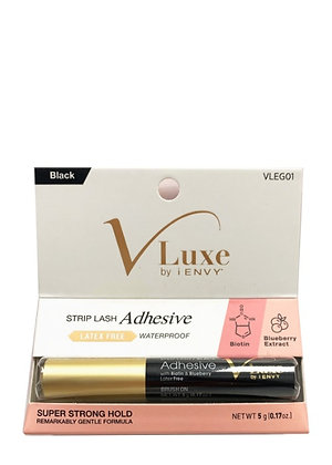 IENVY V-Luxe Super Strong Hold Strip Lash Adhesive Black 0.17oz