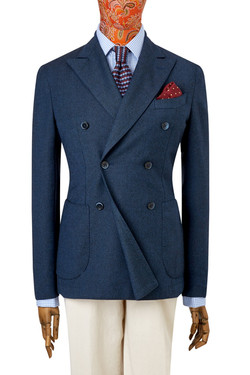 Blazer lana azul