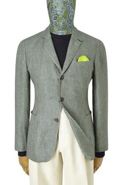 blazer verde gris