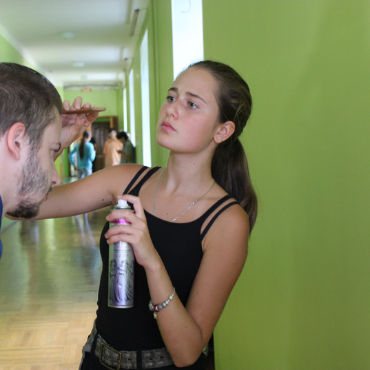 "Съемки новеллы ""Теплый прием"""