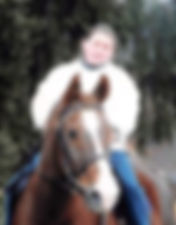 Woman riding a brown horse