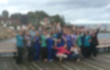 Staff on the harbor