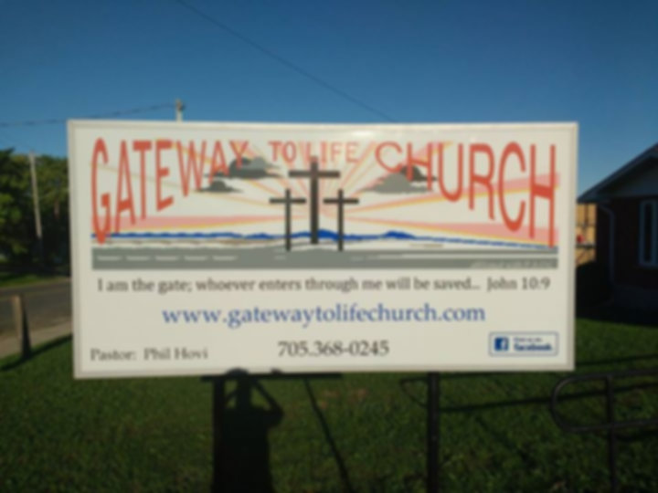 Gateway to Life Church sign
