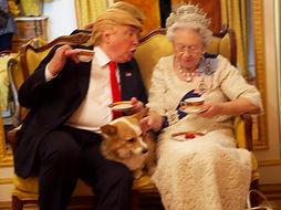 Alison Jackson - Trump & Queen have Tea.