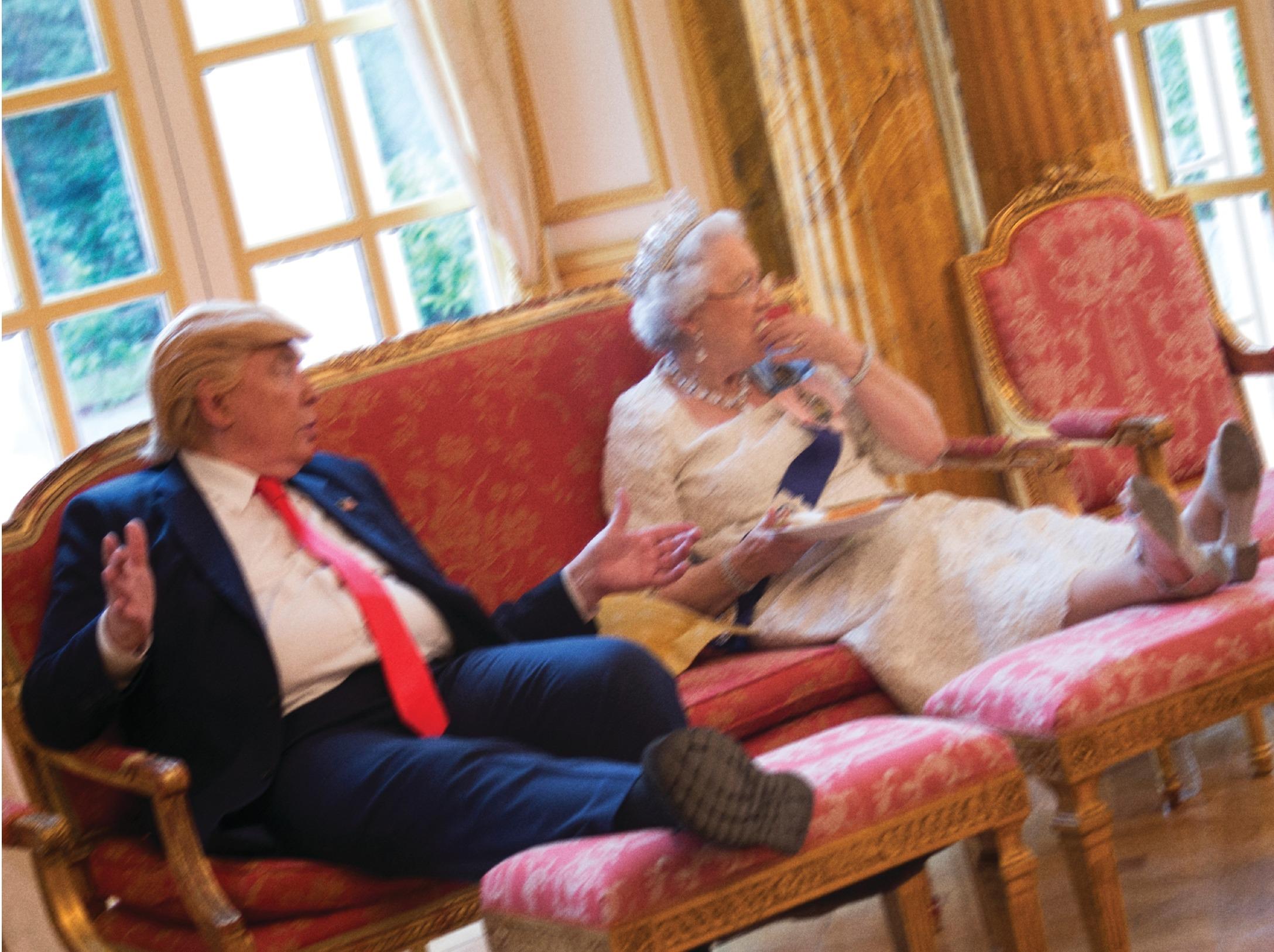 Trump & Queen Have Cucumber Sandwich