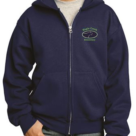Uniform Embroidered Fleece Full-Zip Hooded Sweatshirt