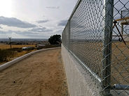 Chain Link Fence on wall