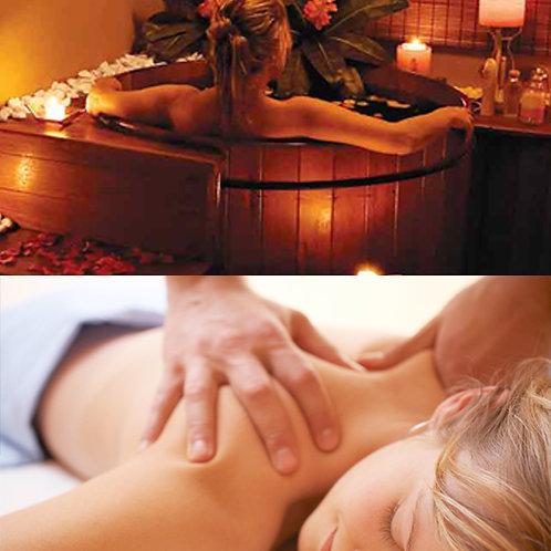 Ofurô + Massagem 1h + Limpeza de Pele