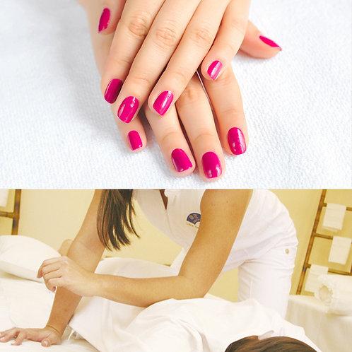 Massagem 1h + SPA Mãos & Pés