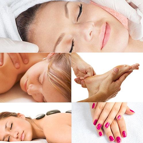 Limpeza de Pele + Hot Stones + Massagem 1h + Reflexo + SPA Mãos/Pés