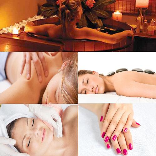 Ofurô+ Limpeza de Pele + Hot Stones + Massagem 1h + SPA Mãos/Pés