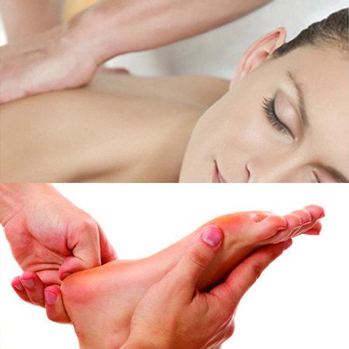 Massagem 1h30 (a escolher) + Reflexo 30min