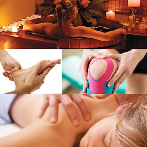 Ofurô + Massagem 1h30 (a escolher) + 30 min Kinesio OU Ventosa