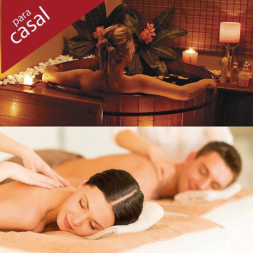 Ofurô + Massagem 2h00 (a escolher ou combinar) para casal