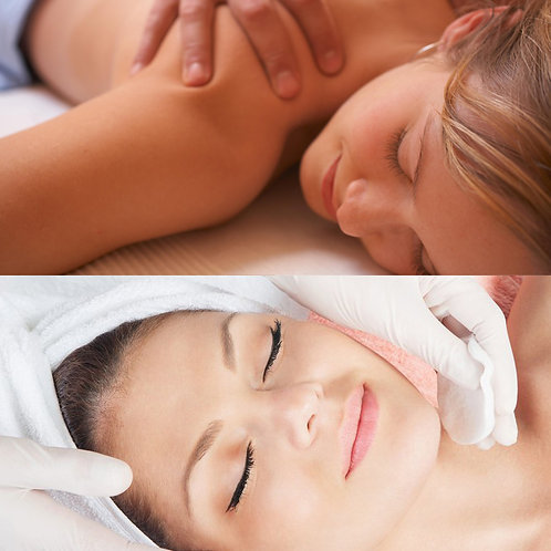 Massagem 1h (a escolher) + Limpeza de Pele