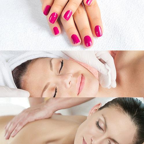 Limpeza de Pele + Massagem 1h + SPA Mãos/Pés