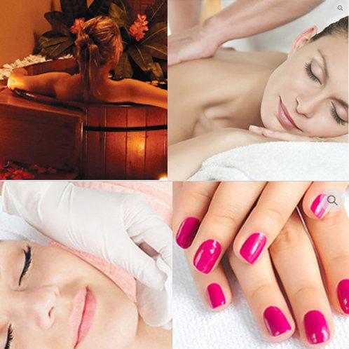 Ofurô + Massagem 1h + Limpeza de Pele + Spa Mãos & Pés